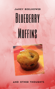 Book Cover with Blueberry muffin