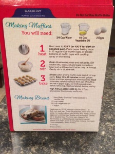 Instructions for blueberry muffins