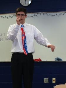 Teen performing a speech