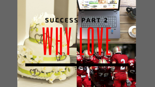 Collage of cake, computer, and football team