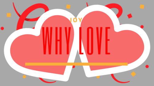 Two hearts with confetti
